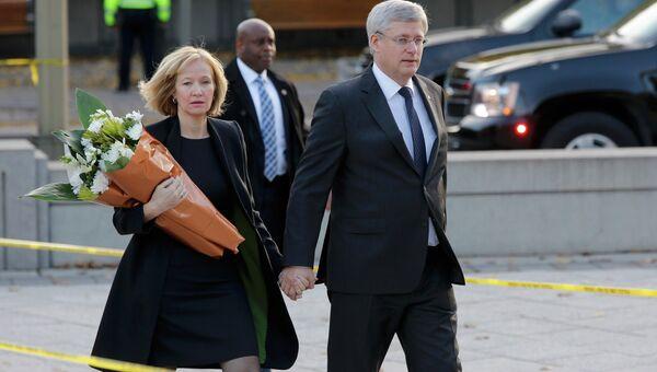 Премьер-министр Канады Стивен Харпер и его жена Лорин Харпер