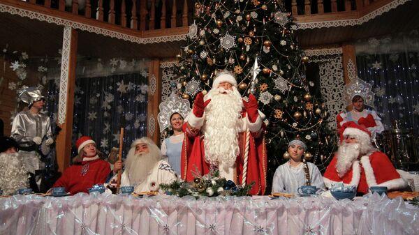 Празднование дня рождения Деда Мороза в Великом Устюге