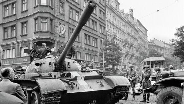 Пражская весна в Чехословакии. Архивное фото