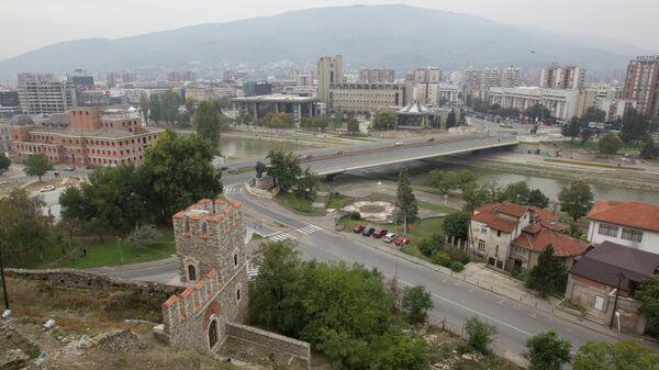 Город Скопье в Македонии