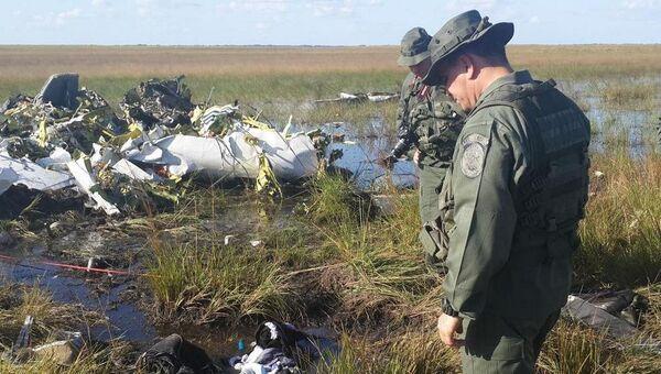 Обломки самолета King200, нарушившего воздушное пространство над Венесуэлой
