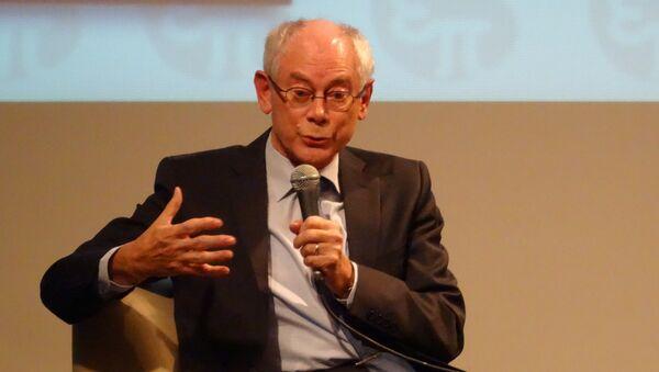 Первый председатель Европейского совета Херман Ван Ромпей. Архивное фото