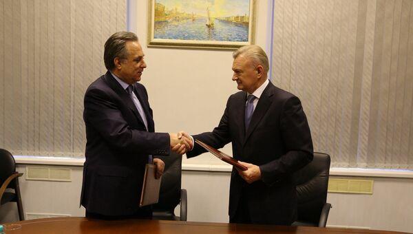 Виталий Мутко и губернатор Рязанской области Олег Ковалёв