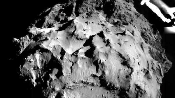Фотография поверхности кометы Чурюмова-Герасименко. Архивное фото