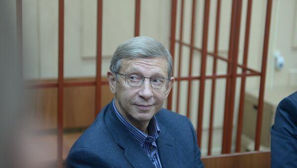 Глава АФК Система Владимир Евтушенков в зале заседаний Басманного суда города Москвы