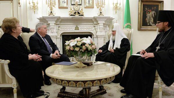 Встреча патриарха Кирилла с послом США в РФ Джоном Теффтом