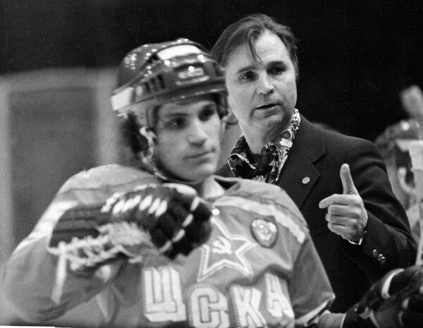 Легендарный тренер по хоккею Виктор Васильевич Тихонов