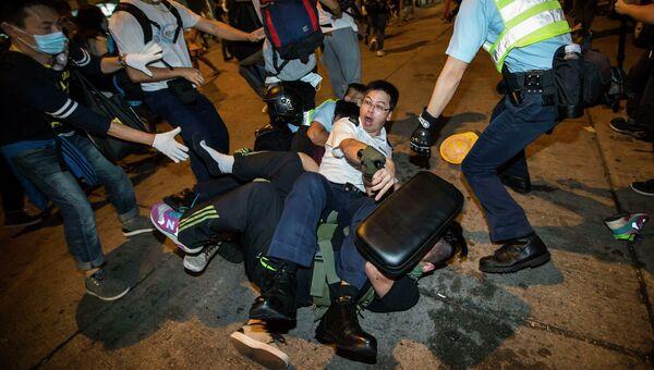Задержание участников акции протеста в Гонконге. Архивное фото