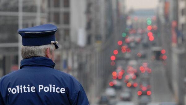 Бельгийский полицейский. Архивное фото