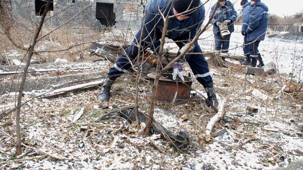 Обезвреживание снарядов на Донбассе