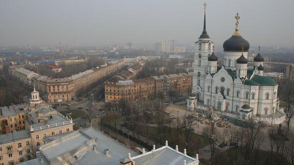 Благовещенский собор в Первомайском сквере Воронежа