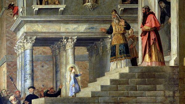 Тициан. Введение во храм Пресвятой Богородицы. 1534-1538, архивное фото
