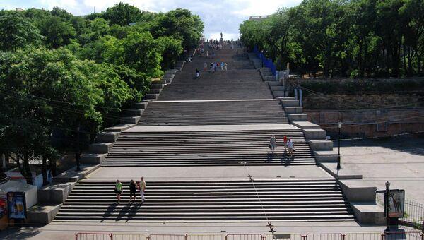 Потемкинская лестница в Одессе, архивное фото