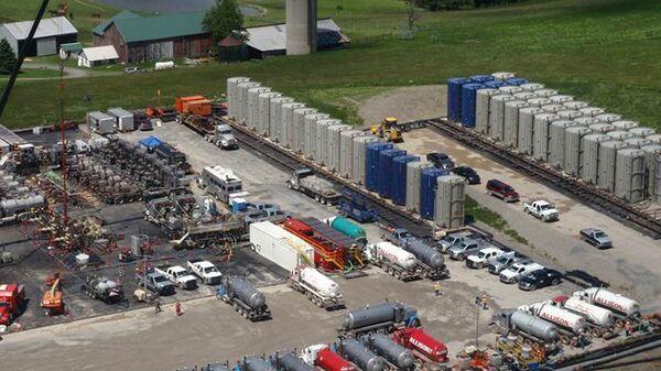 Предприятие по добыче сланцевого газа в Пенсильвании, США