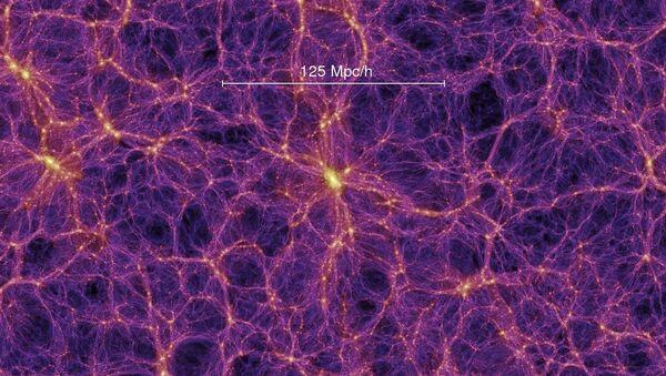 Космическая паутина, состоящая из обычной и темной материи