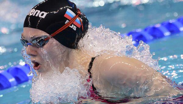 Мария Асташкина (Россия) во время квалификационных заплывов на дистанции 50 метров брассом на чемпионате мира по плаванию на короткой воде. Архивное фото
