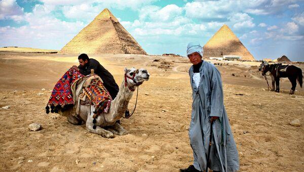 Пирамиды Гизы. Каир. Архивное фото