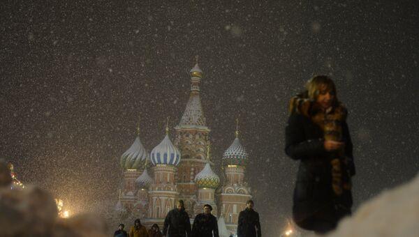 Вид на Покровский собор на Красной площади