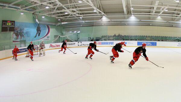 Хоккей. Тренировка молодежной сборной России