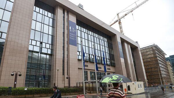 Здание Совета Евросоюза в Брюсселе.  Архивное фото.