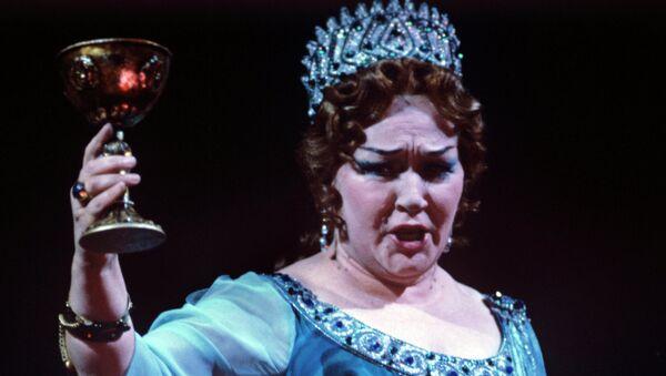 Ирина Архипова в роли Клитемнестры в сцене из оперы К.В.Глюка Ифигения в Авлиде