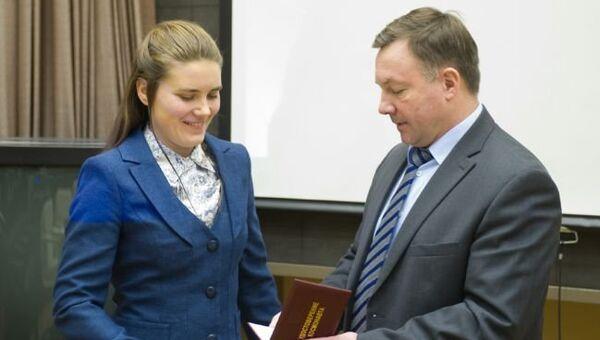 Кандидату в космонавты Анне Кикиной присвоена квалификация космонавт-испытатель, архивное фото