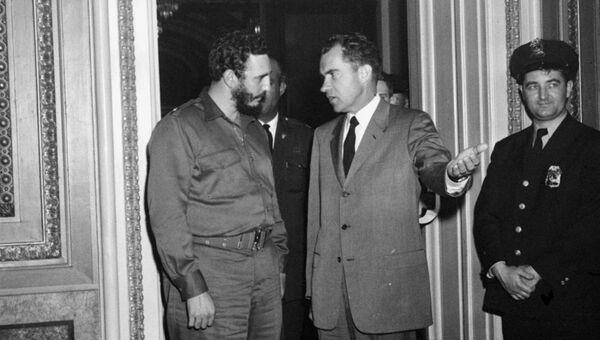 Премьер-министр Кубы Фидель Кастро и вице-президент США Ричард Никсон. 1959