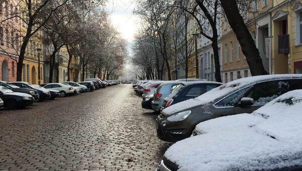 Снег на улицах в Германии