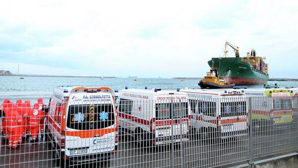 Операция по спасению пассажиров с парома Norman Atlantic в водах Греции. 29 декабря 2014