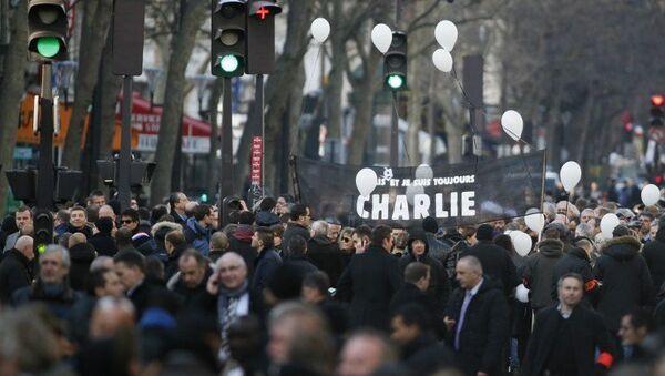 Марш памяти жертв терактов в Париже, архивное фото