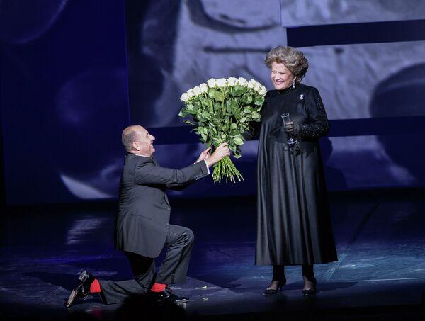 Владимир Кехман и Елена Образцова на гала-концерте