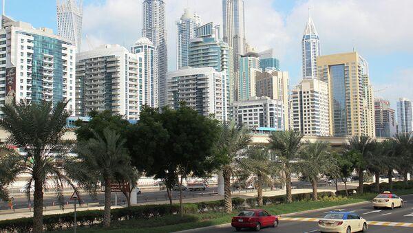 Вид на Дубай. 2015 год