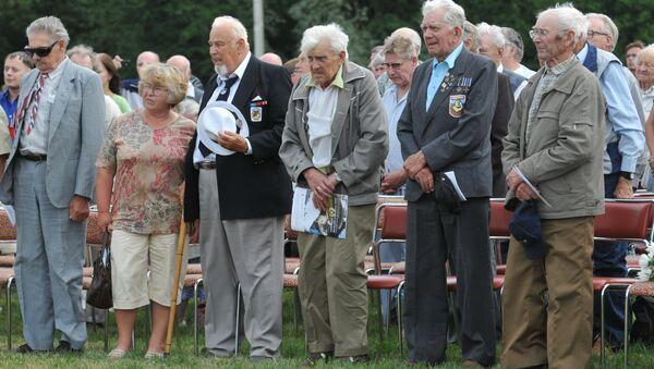 Сбор ветеранов 20-й гренадерской дивизии СС в Эстонии. Архивное фото