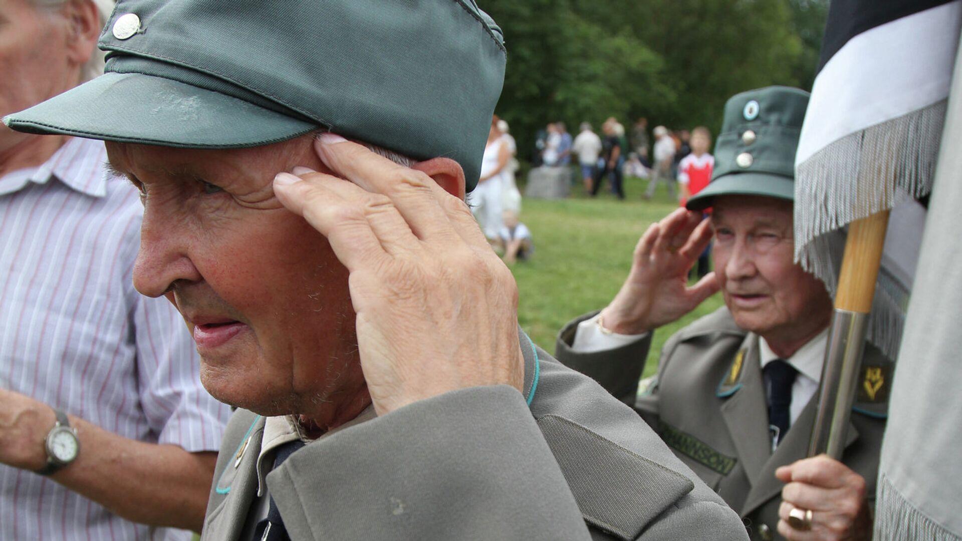Сбор ветеранов 20-й гренадерской дивизии СС в Эстонии - РИА Новости, 1920, 03.08.2021
