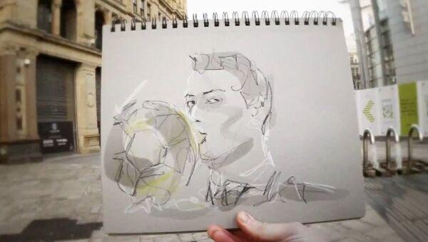 Карьера Криштиану Роналду в рисунках