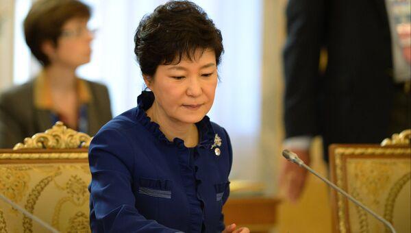 Экс-президент Республики Корея Пак Кын Хе. Архивное фото