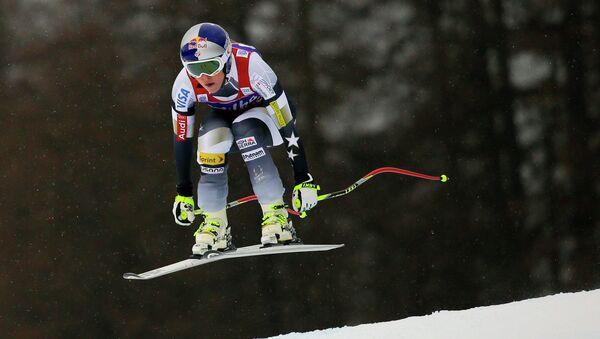 Линдси Вонн на соревнованиях по  скоростному спуску в Кортина-Д`Ампеццо