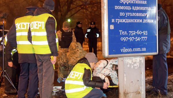 На месте взрыва в Харькове, 19 января 2015