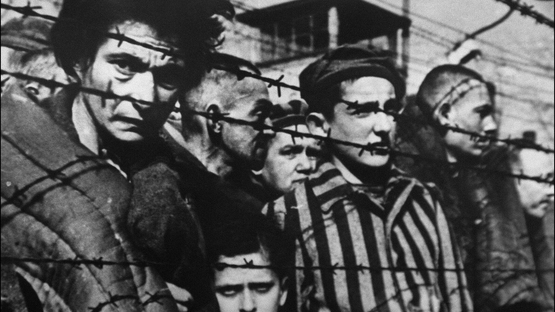 Заключенные за колючей проволокой в концентрационном лагере Освенцим - РИА Новости, 1920, 27.01.2020