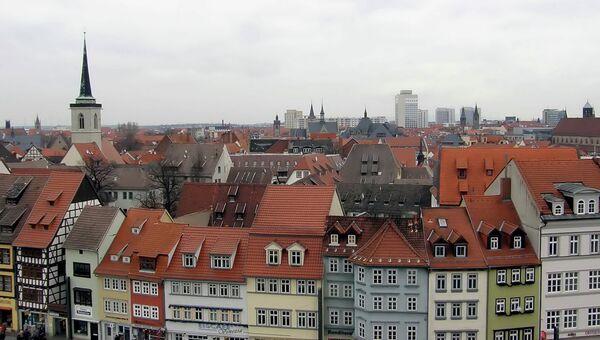 Немецкий город Эрфурт. Архивное фото