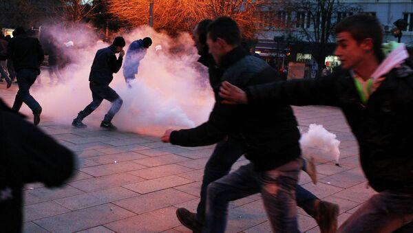 Протестующие в Приштине