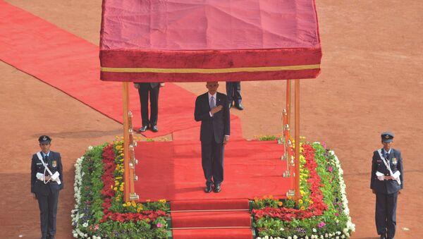 Президент США Барак Обама во время визита в Индию