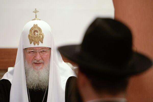Патриарх Московский и всея Руси Кирилл на встрече с представителями еврейской общины Еврейского автономного округа