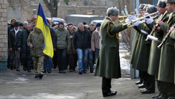 Призывники в украинскую армию. Архивное фото