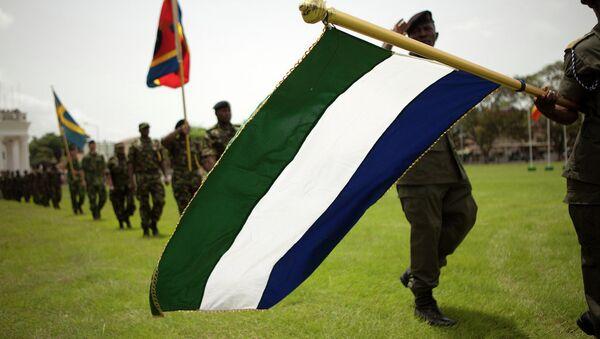 Флаг Гамбии. Архивное фото