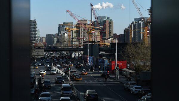 Вид на город Пекин. 2014 год