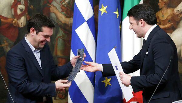 Маттео Ренци и Алексис Ципрас