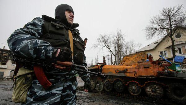 Боец ополчения ДНР. Углегорск, Украина