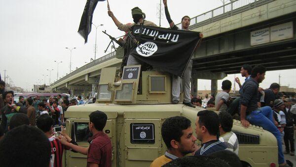 Флаг группировки ИГ. Архивное фото