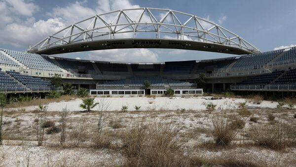 Олимпийский стадион для пляжного волейбола в Афинах